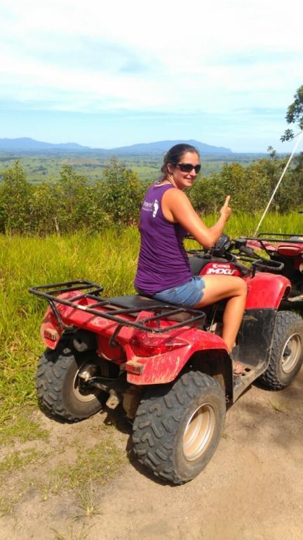 Quad biking up home on the tablelands