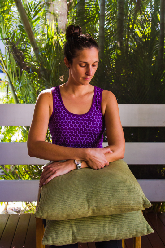 Forearm extensors – sitting – thumb release and with cream