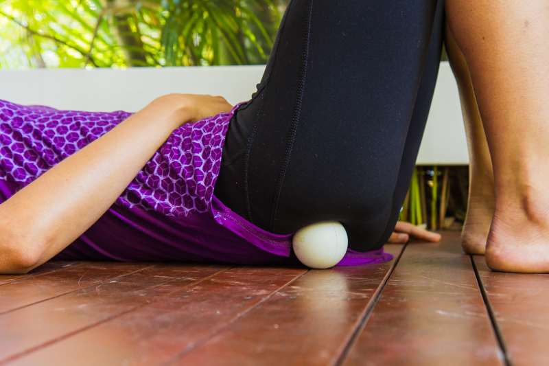 Hip rotator release with ball
