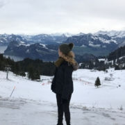 Britt at the snow