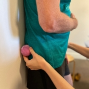 Massage gun or ball for glute release