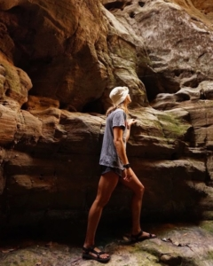 Walking through caves