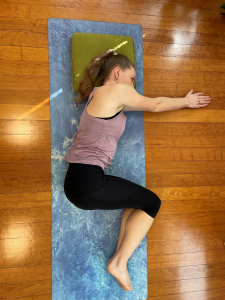 Physio mobility bow and arrow stretch